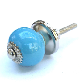 Blauw kastknopje