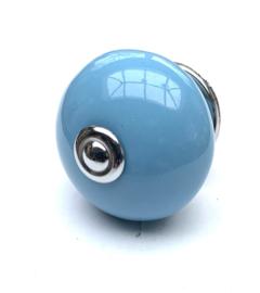 Kastknop baby blauw
