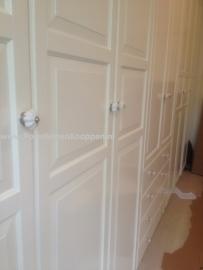 125 Möbelknopf Möbelknauf Shabby weiß marmoriert knistern