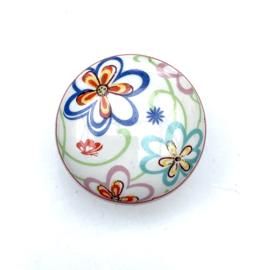 165 Möbelknopf Blume bunt Möbelknauf Schrankknauf für Kindermöbel