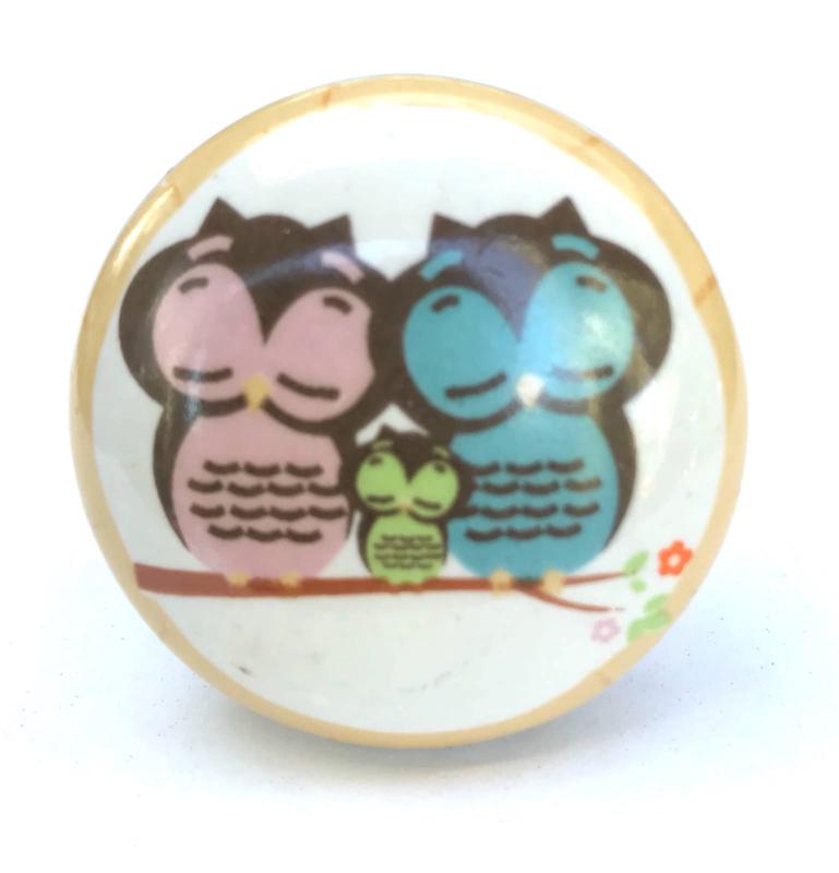 Deurknop Owl Family, Uiltjes in de boom