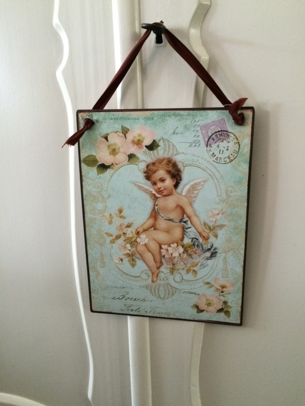 Deurhanger Angel postcard, deurhanger kasthanger