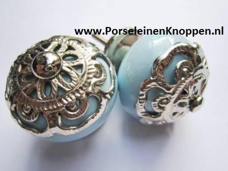 Barok kastknop blauw