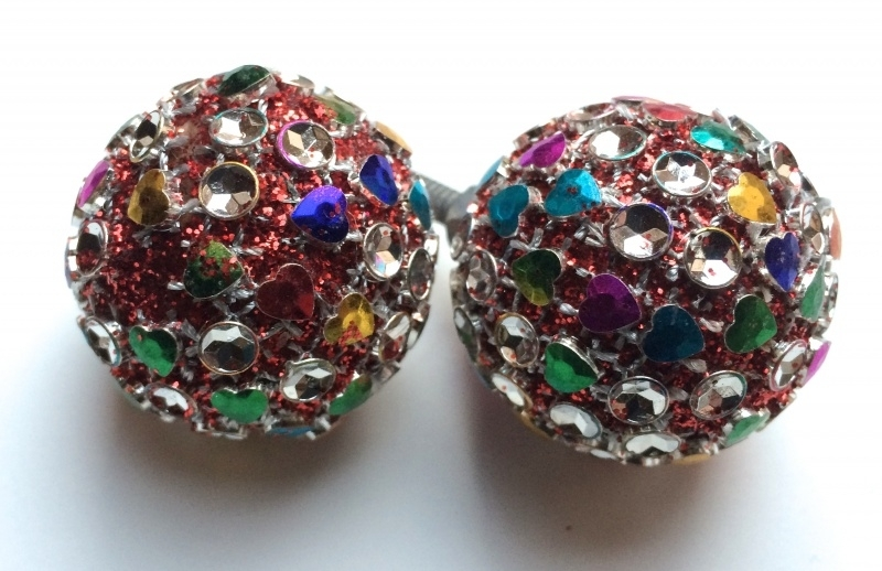 Multicolor disco kastknop