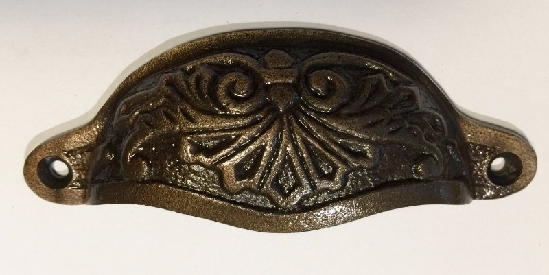 Komgreep Zwart in combinatie met brons
