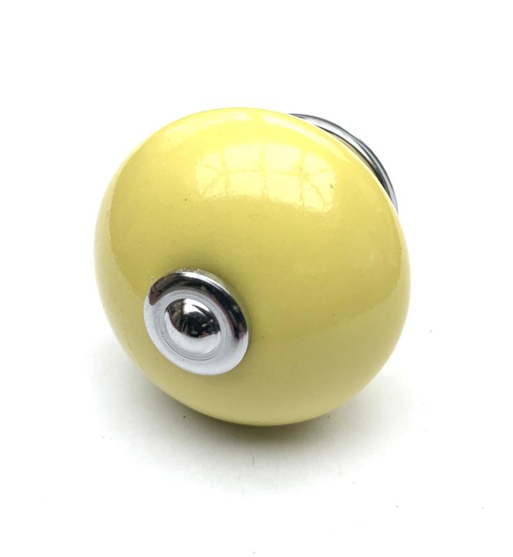 Kastknop geel
