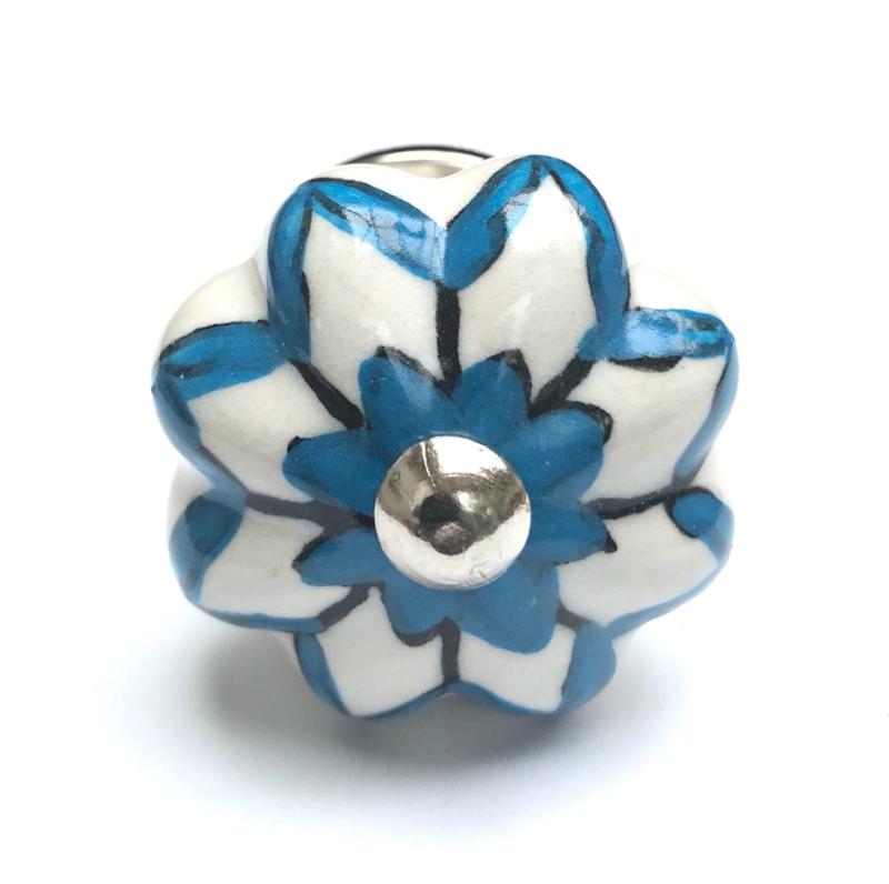 Blauw witte kastknopjes, Blauwe kastknop