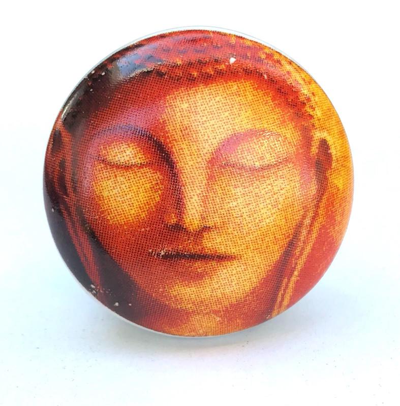 Retro kastknop Buddha