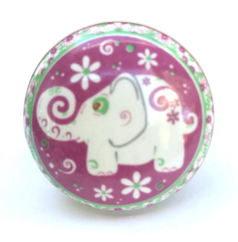 Kastknopje Pink elephant, Olifant