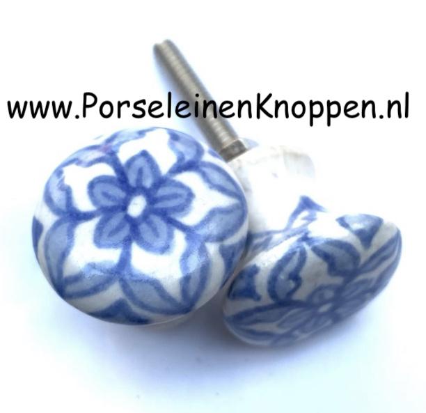 Klein kastknopje, delftsblauw kastknopje, kastknop blauw