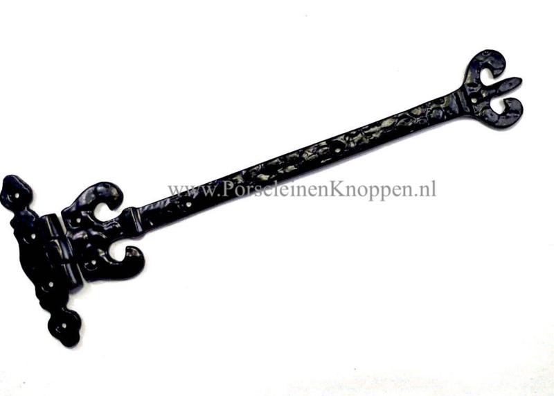 Scharnier smeedijzer Crown ( 280mm x 112mm ) smeedijzeren scharnieren - Aanbieding 4 stuks  €10,- p.st
