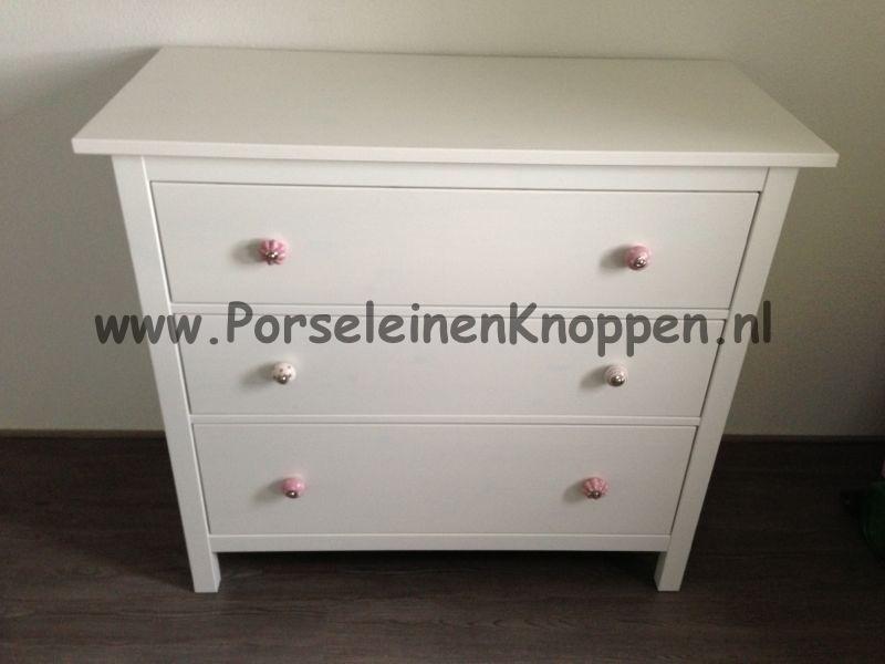 Ikea Hemnes Commode met porseleinen knopjes