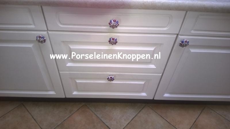 Klantfoto Keuken met boerenbont kastknoppen