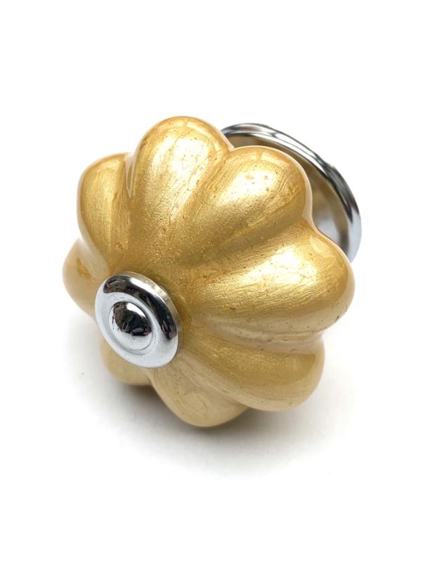 Kastknop goud metallic