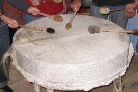 Drum Powwow Paard, Koe of Eland 80cm