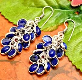 925 sterling zilver Lapis Lazuli oorbellen