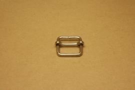 Schuifgesp nikkel 22 mm
