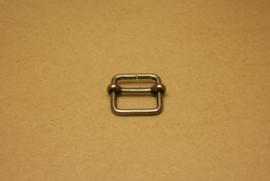 Schuifgesp oud nikkel 25 mm