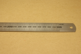 Stalen liniaal 30cm