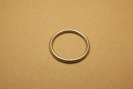 Ring ongelast nikkel 40 mm