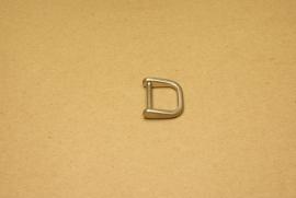 Handvatbevestiging mat nikkel 20mm