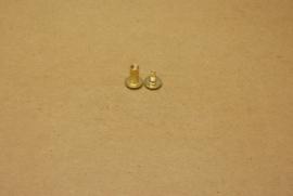 Boekschroef goud 10mm (100) **Nieuw**
