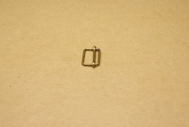 Schuifgesp oud goud 15 mm