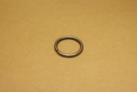 Ring ongelast oud nikkel 30 mm