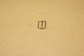 Schuifgesp nikkel 15 mm