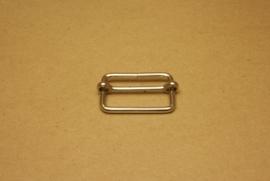 Schuifgesp nikkel 40 mm