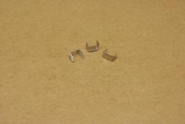 Eindstop nylon rits nikkel en oud goud (10)