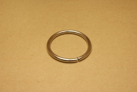 Ring ongelast nikkel 50 mm