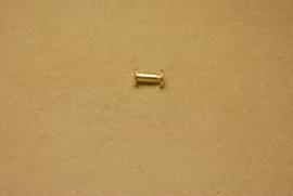 Boekschroef goud 10mm (10) **Nieuw**