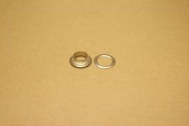 Zeilring nikkel 15mm (100)