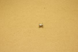 Boekschroef nikkel 4mm (10)