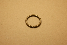 Ring ongelast oud goud 30 mm