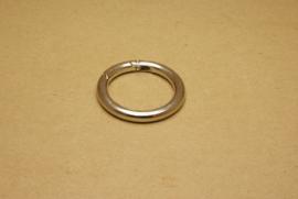 Musqueton Ring nikkel, binnenmaat 40 mm