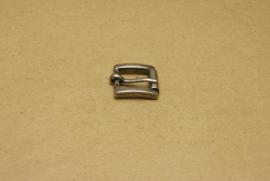 Gesp oud nikkel 15 mm