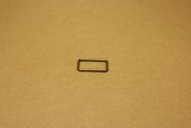 Ring rechthoek ongelast 25mm oud goud