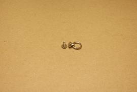 Geweerknop met ring nikkel