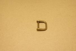 Handvatbevestiging oud goud 20mm