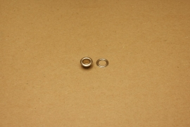Zeilring nikkel 6mm (100)