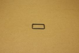 Ring rechthoek ongelast 25mm oud nikkel