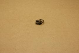 Trekker oud goud met ring voor rits 5mm