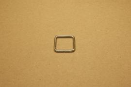 Ring vierkant ongelast 20mm nikkel