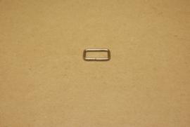 Ring rechthoek ongelast 20mm nikkel