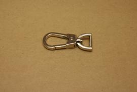 Musqueton nikkel, bandbreedte 15 mm **Nieuw**