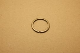 Sleutelring plat oud goud 30 mm