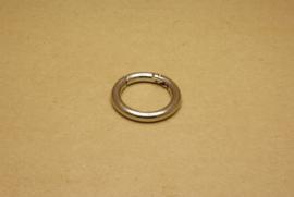 Musqueton Ring nikkel, binnenmaat 30 mm
