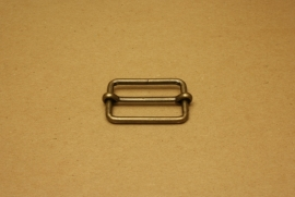 Schuifgesp oud goud 40 mm
